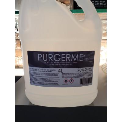 Purgerme Gel Alcool antibatérien 70% alcool